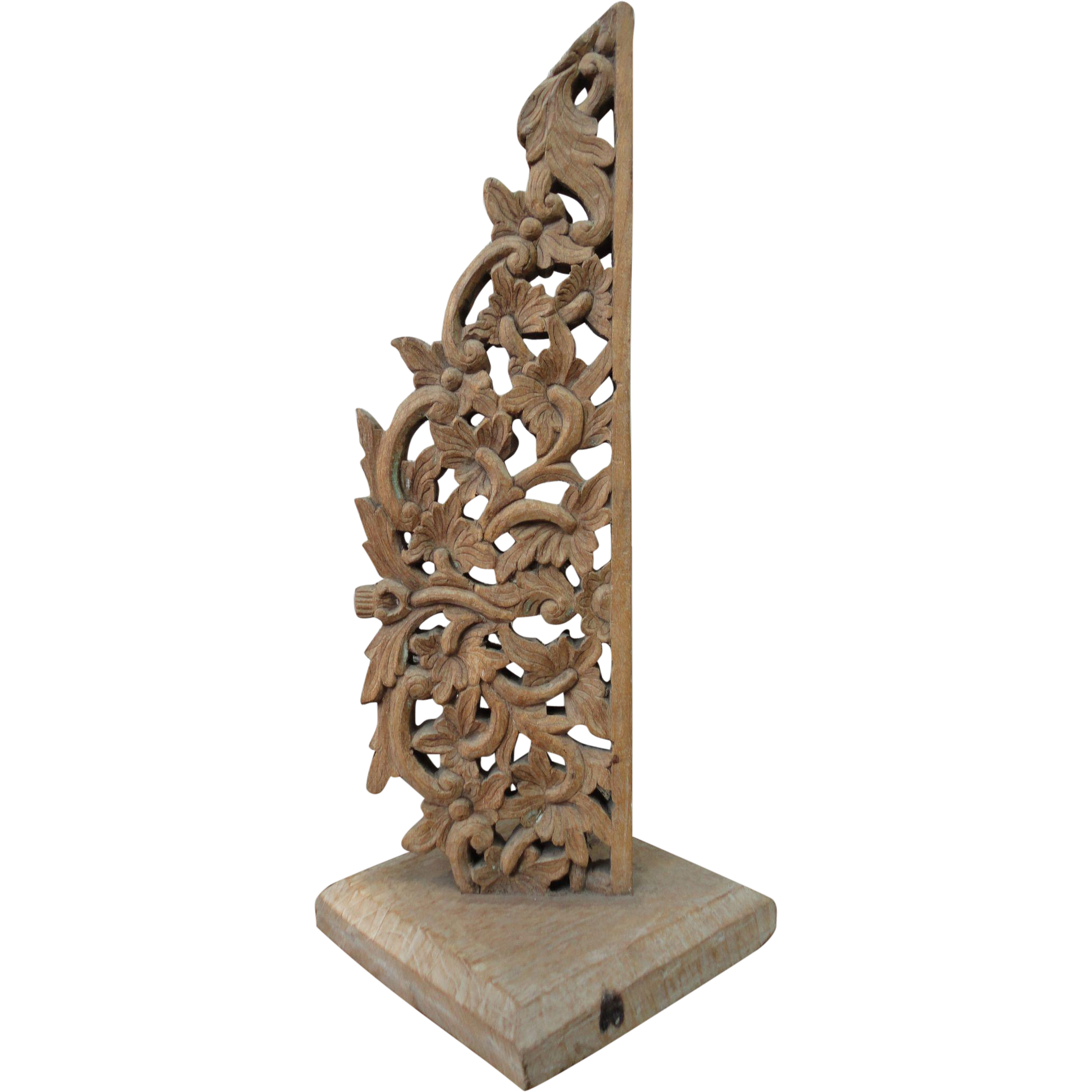 Bali carved wood display piece home decor from for Bali decoration accessories