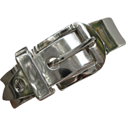 C1960 Los Ballesteros Sterling Silver Buckle Bracelet from Taxco Mexico