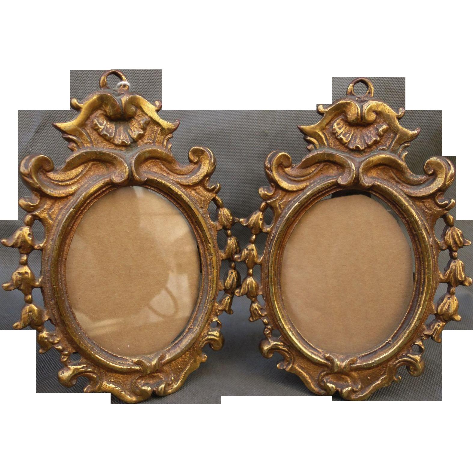 Beautiful Pair Victorian Gilt Bronze Frames