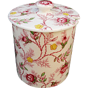 Copeland Spode Rosebud Chintz Mustard Jar