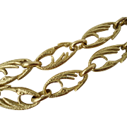 "Stunning 18K Yellow Gold Crane Heron Links Necklace 29.5"" Long 71.9 grams"