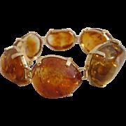 Statement 14K Golden Madeira Citrine Gem Pebbles Bracelet