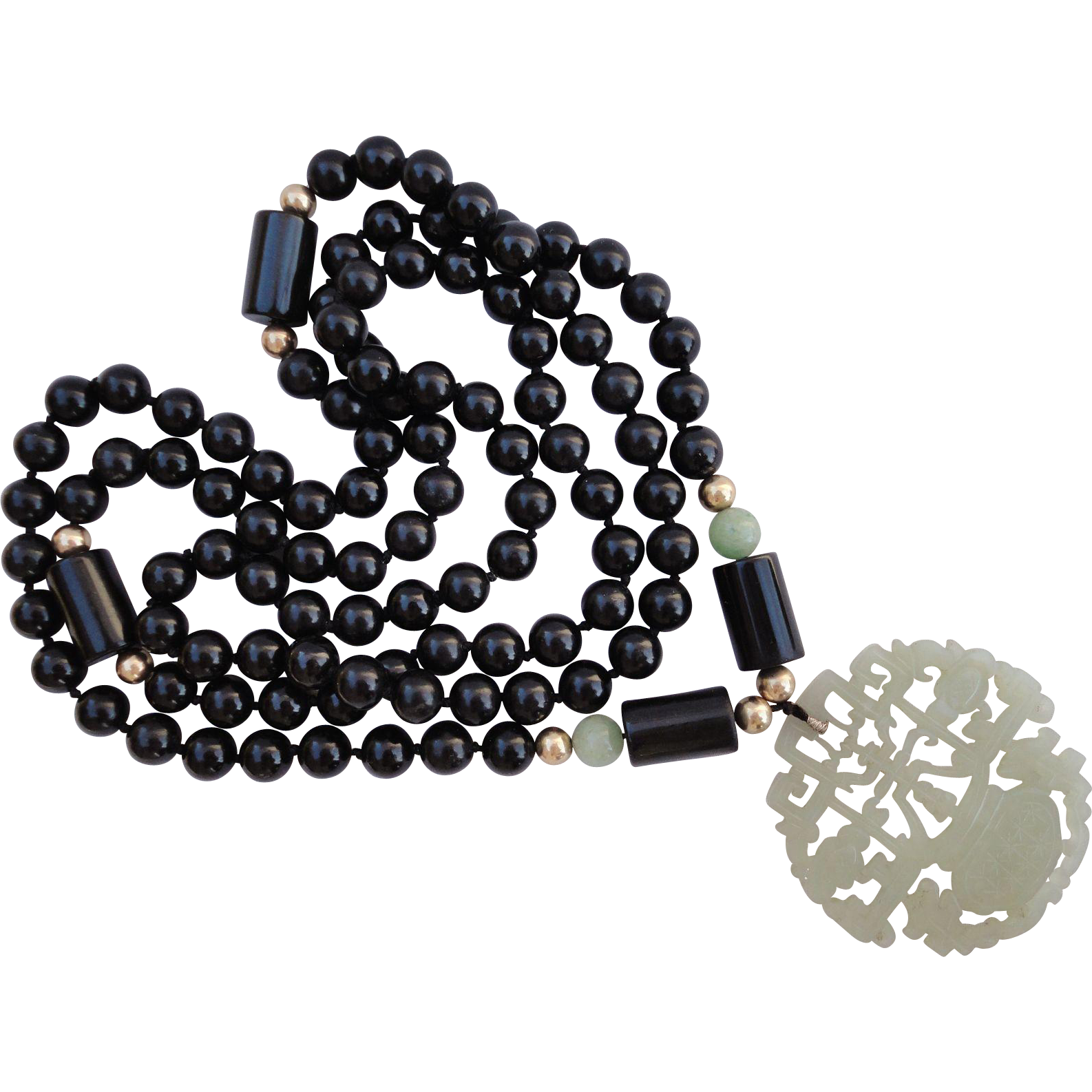 sea black stone big of story pendant products copy and green a onyx necklace blue indian