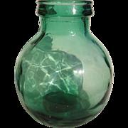 C1880 Viresa Antique Wide Mouth Demijohn Carboy Large Mold Blow Glass Olive or Pickle Jar