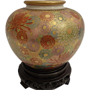 Antique Japanese Satsuma Vase Extremely Fine Chrysanthemum Thousand Flowers
