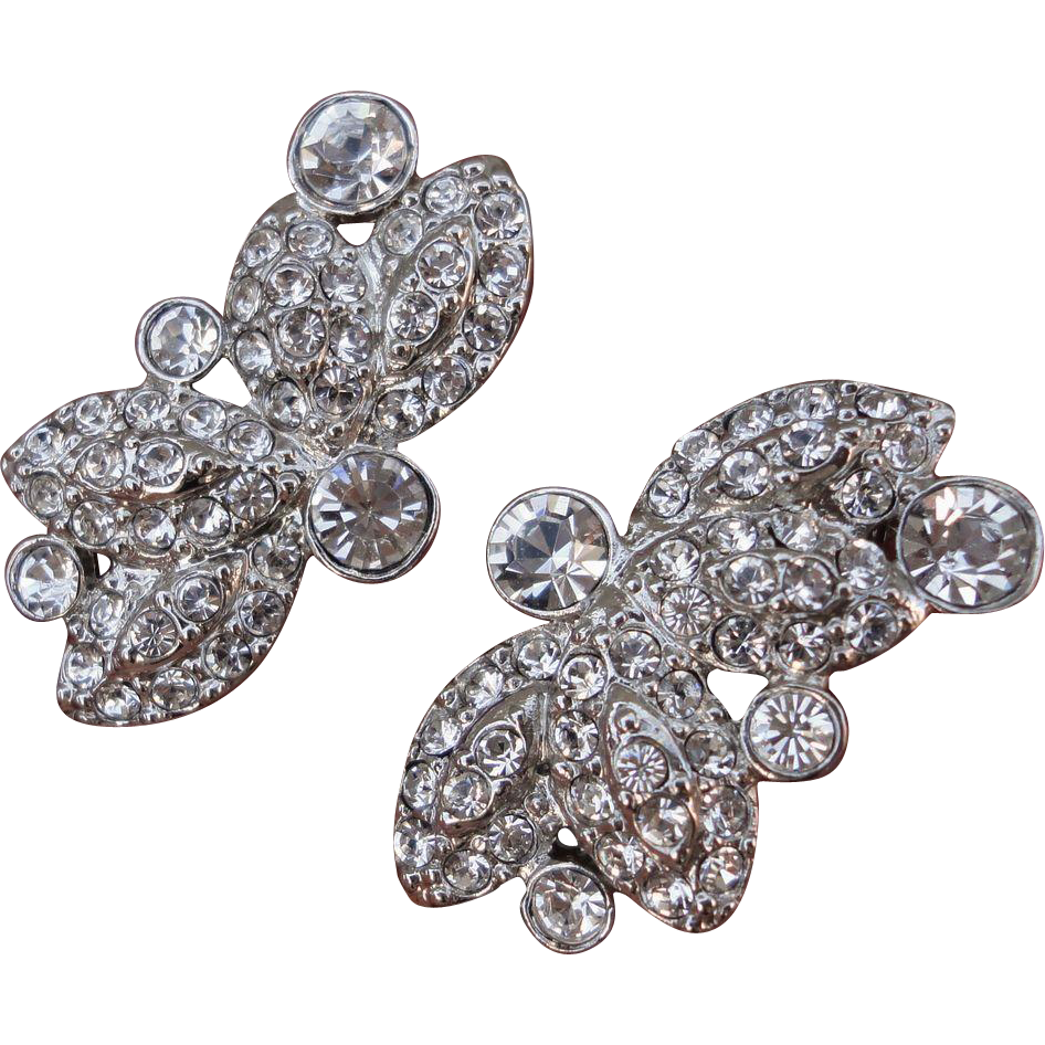 beautful jjg rhinestone butterfly clip on