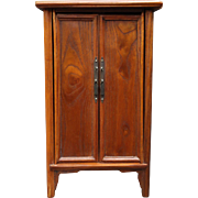 19th Century Salesman's Sample Chinese Pine Armoire Mini Cabin Display Cabinet Doll House Furniture