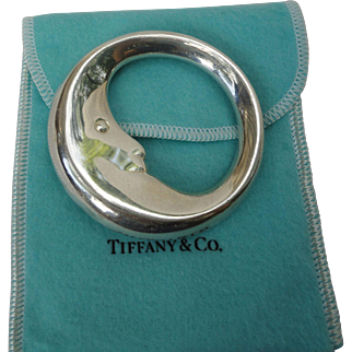 Tiffany & Co. Sterling Silver Man In The Moon Baby Rattle