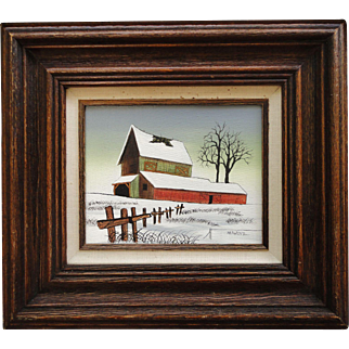 Vintage Oil Painting by Hargrove Hometown Series