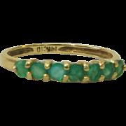 14K Yellow Gold Emerald Ring Band