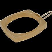 14K Yellow Gold Mid Century Modernistic Design Bangle Bracelet 35.3 Grams