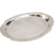 Modernistic Sterling Silver Oval Card Tray by Whiting 3.85 OZT