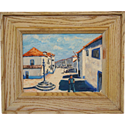 Street Scene Oil Painting on Board by Ross Connelly