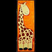 Original Signed Oil Painting Giraffe - Art for the Nursery Kids Room