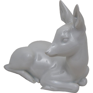 Very rare  Rosenthal Fawn Deer from 1920 - Designed by Theodor Karner #124