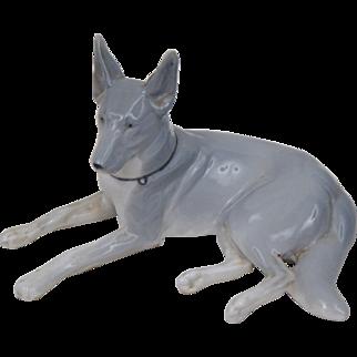 Art Deco Porzellan Gotha Pfeffer German Shepherd Figurine
