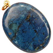 Smooth Oval Blue Lapis 14K Yellow Gold Bail