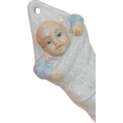 Lladro DAISA Spain Baby Boy Blue Girl Pink First Xmas Christmas 1991 Ornament