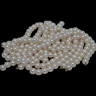 "Six Strands of High Lustre Cultured Salt Water Pearls 80"" Total 180.9 grams"