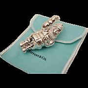 "Tiffany & Co. Sterling Silver Santa Christmas Ornament C1993 3"""