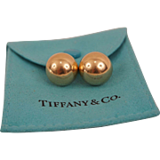 Vintage Tiffany & Co Dome Earrings 14k Yellow Gold Post Back