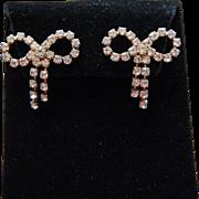 Elegant Vintage Bow Rhinestone Earrings