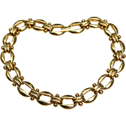 Bold Statement Erwin Pearl Goldtone Necklace