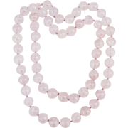 Rose Quartz Necklace 32 Inches Round Smooth Beads 12.5 mm