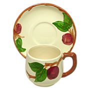 Franciscan China, Apple Pattern, Small Mug and Saucer, U.S.A. - Red Tag Sale Item