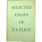 T. S. Eliot, Selected Essays, New Edition, 1964
