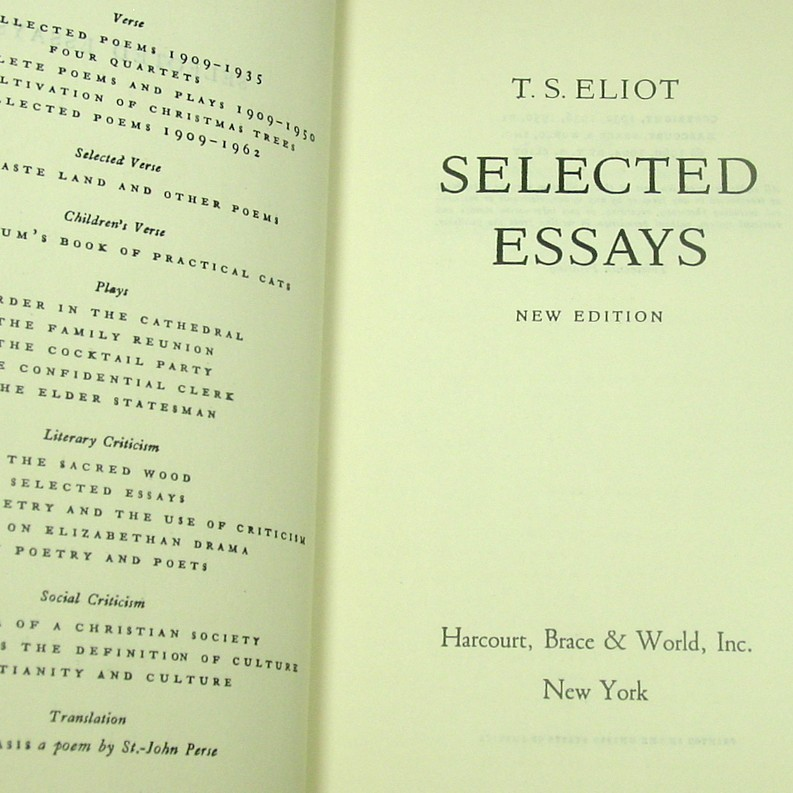 t.s. eliot hamlet essay Cleopatra and her problems: ts eliot and the fetishization of shakespeare's queen of the nile john p mccombe the university of dayton this essay traces the evolution of ts.