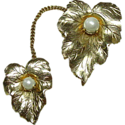 "Sarah Coventry Chatelaine Pins, ""Chit-Chat"", Gold-plated"