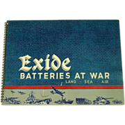 Exide Batteries at War, 1946, WWII Images/Art, Advertising