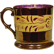 Copper Lustreware Mug, Staffordshire, 19th Century