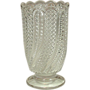EAPG Glass Celery Vase, Feather Pattern, Circa 1896, McKee Brothers