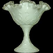 Fenton Silver Crest Spanish Lace Compote