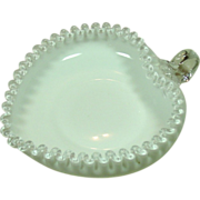 Fenton Silver Crest, Heart Shape Relish, Applied Handle