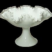 Fenton Silver Crest Pedestal Fruit Bowl/Comport 1960-76