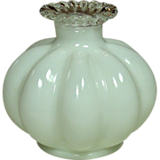 Fenton Silver Crest, Candleholder, Squat Melon