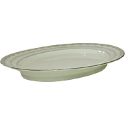 "Noritake China, Japan, #6243 Margaret Pattern, 16"" Oval Platter, 1961-1973"