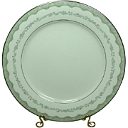 Noritake China, Japan, #6243 Margaret Pattern, 10 1/2 Dinner Plate, 1961-1973