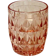 "Pink Depression, Windsor, ""Windsor Diamond"", Jeannette Glass, 5 Oz. Juice Tumbler"