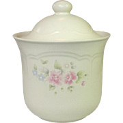 Pfaltzgraff USA, Tea Rose Pattern, Medium Canister, #502