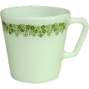 Pyrex USA, Spring Blossom, Green, Coffee / Tea Mugs, 1970's