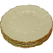 "Lenox USA, Cottage, Leaf Pattern, Dessert / Pie Plates, 7 1/4"", Six"