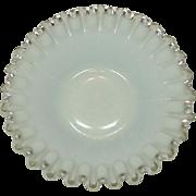 "Silver Crest Line, Fenton Art Glass Company, 8.5"" Plate, 1948 - 1971"