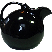 Hall Pottery USA, Ice Lip Ball Pitcher, Black, Mid-Century