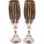 Mikasa Glassware, Fluted Champagne Glasses, a Pair, 1993-1997