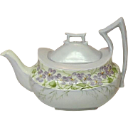 Tressemanes and Vogt, Limoges, France, 10 oz. Porcelain Tea Pot, Handpainted