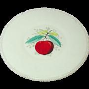 Westmoreland Glass, Beaded Edge, Fruit Decoration, Torte Plate, 1950's
